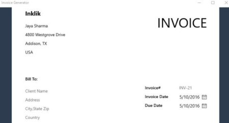 free invoice generator zoho address