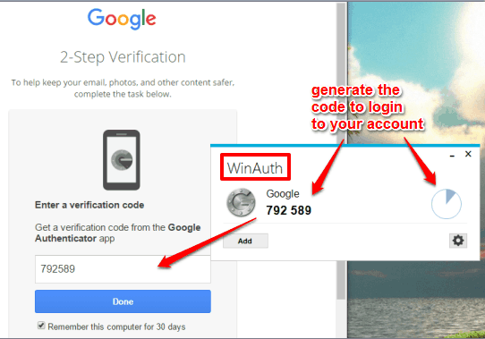 generate code to login to your connected account