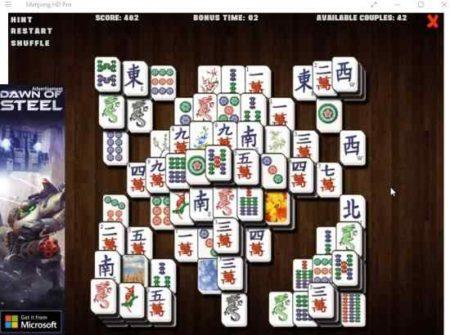 mahjong HD pro game layout