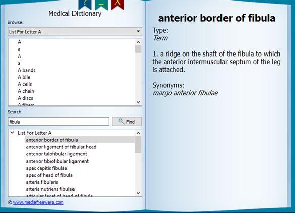 medical dictionary software windows 10 3