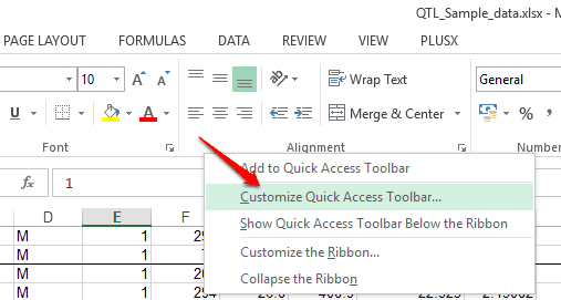 right click on QAT and access Customize quick access toolbar option