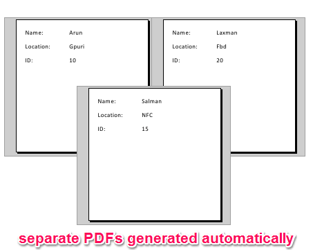 separate pdfs without images
