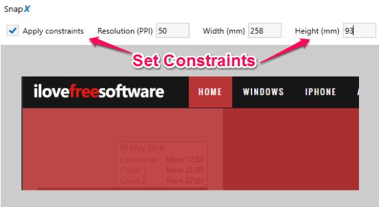 set contraints