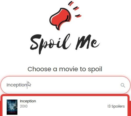 spoil me inception