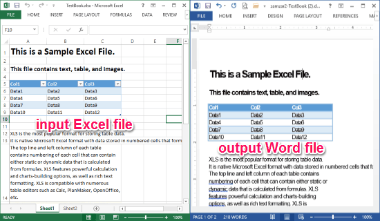 Convert Excel to Word Online Free with these 4 Websites