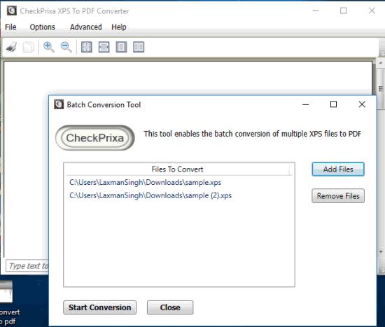 CheckPrixa XPS To PDF Converter
