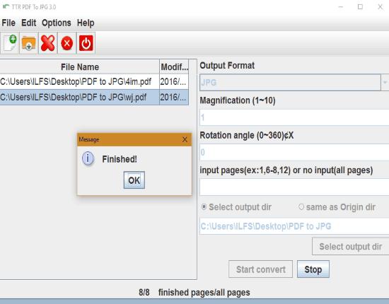 TTR PDF To JPG