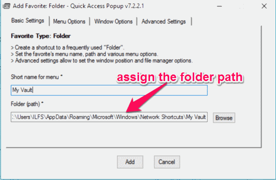 add folder details