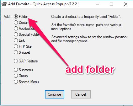 add folders