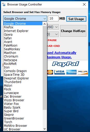browser usage controller