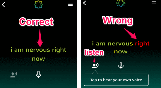 correct and wrong