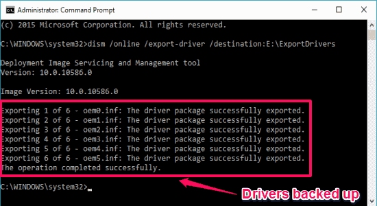 drivers exported