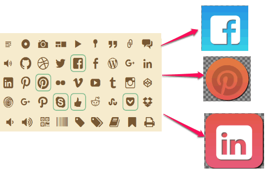icon font to png