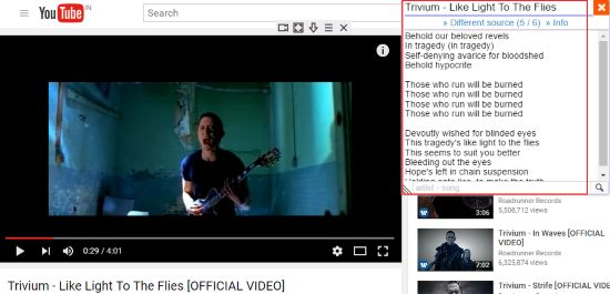 5 Chrome Extensions to Show Lyrics of YouTube Videos