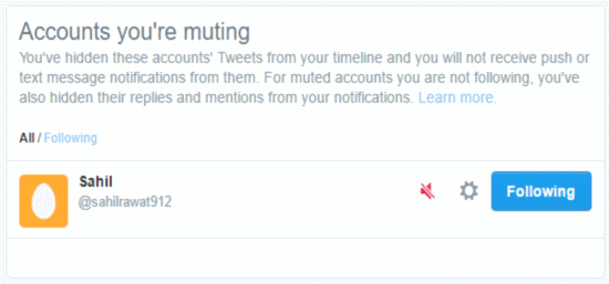muted accounts