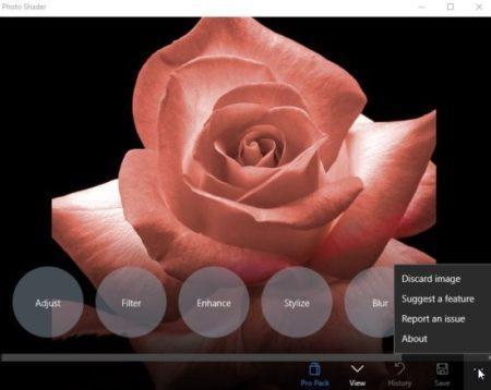 photo shader photo options