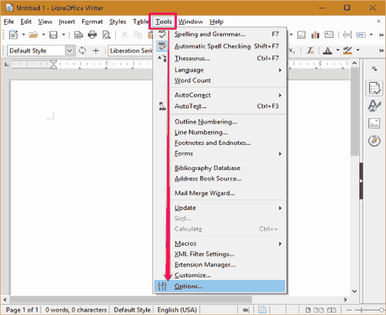 settings office 2013 theme first step