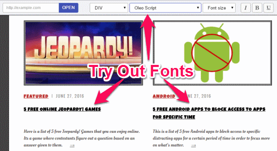 See How Your Website Will Look in Different Fonts, without