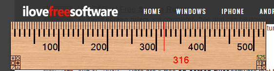 A Ruler for Windows- interface