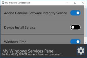 My Windows Services Panel