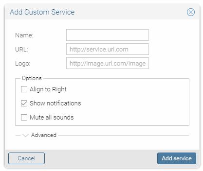 add cutom services