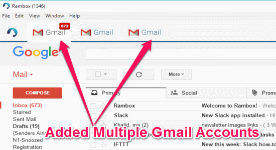 added gmail accounts