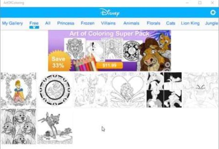 art of coloring by disney free