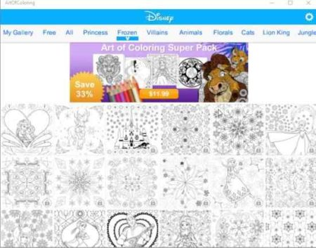 art of coloring by disney home