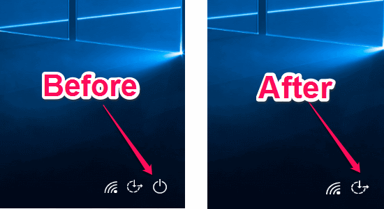 before and after shutdown button