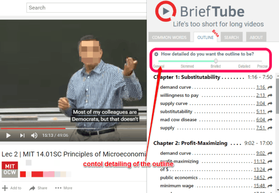 brieftube table of contents