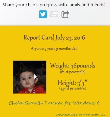 child growth tracker share