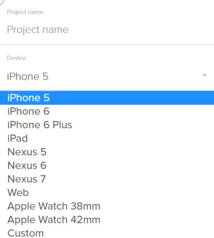 choose device