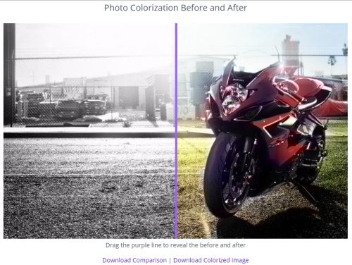 compare the images and download the output