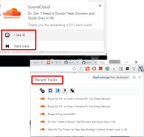 Chrome Extension to Control SoundCloud from outside Browser