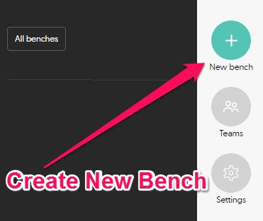 create new bench