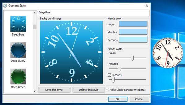 desktop clock widget software windows 10 2