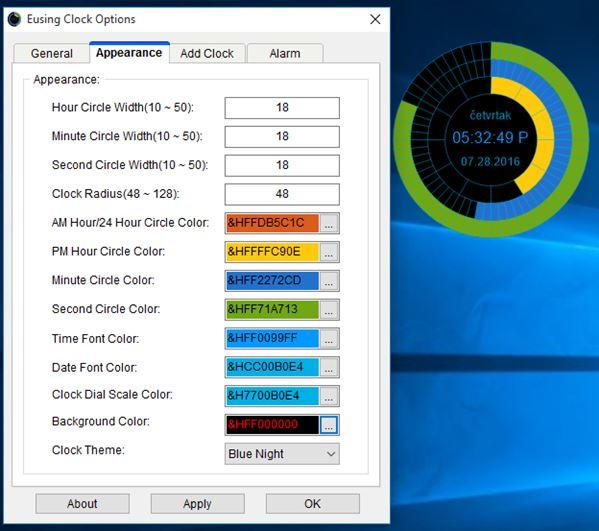 desktop clock widget software windows 10 3
