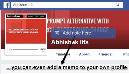 fb friends memo own profile