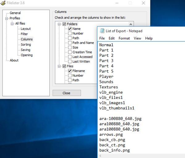 file list printer software windows 10 3