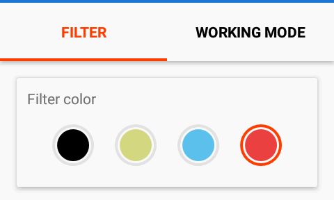 filter colors
