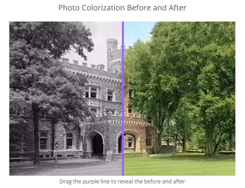 free service to colorize black and white photos