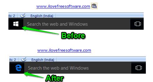 hide windows 10 start button