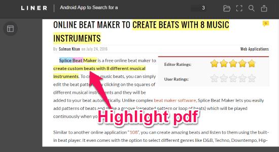 highlight pdf files