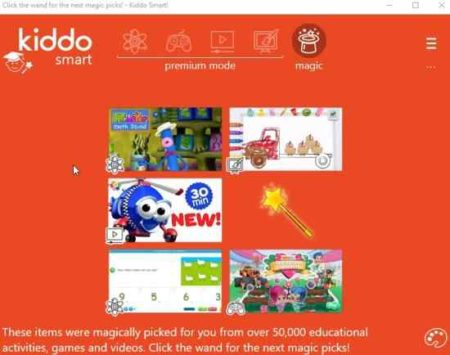 kiddo smart activity page