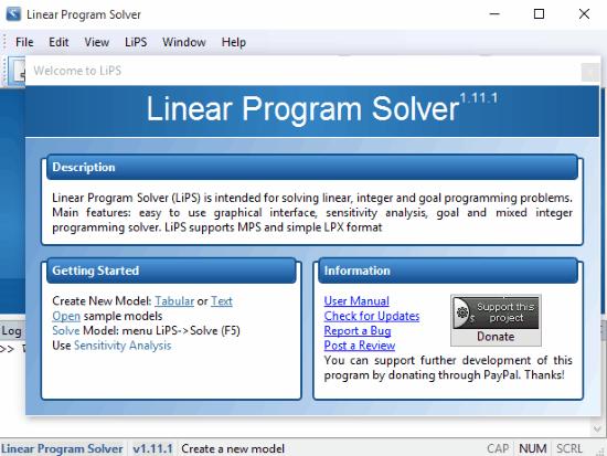 Free Linear Program Solver Software using Simplex Method