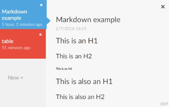 markdown header notestorm