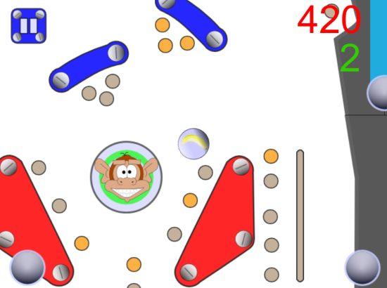 mobile monkies pinball
