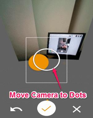 move camera circle to dots