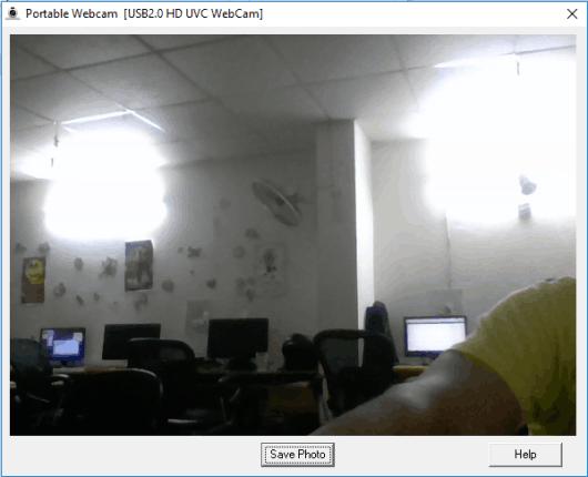 portable webcam- interface