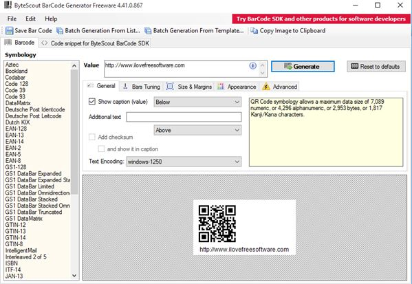 qr code generator software windows 10 3